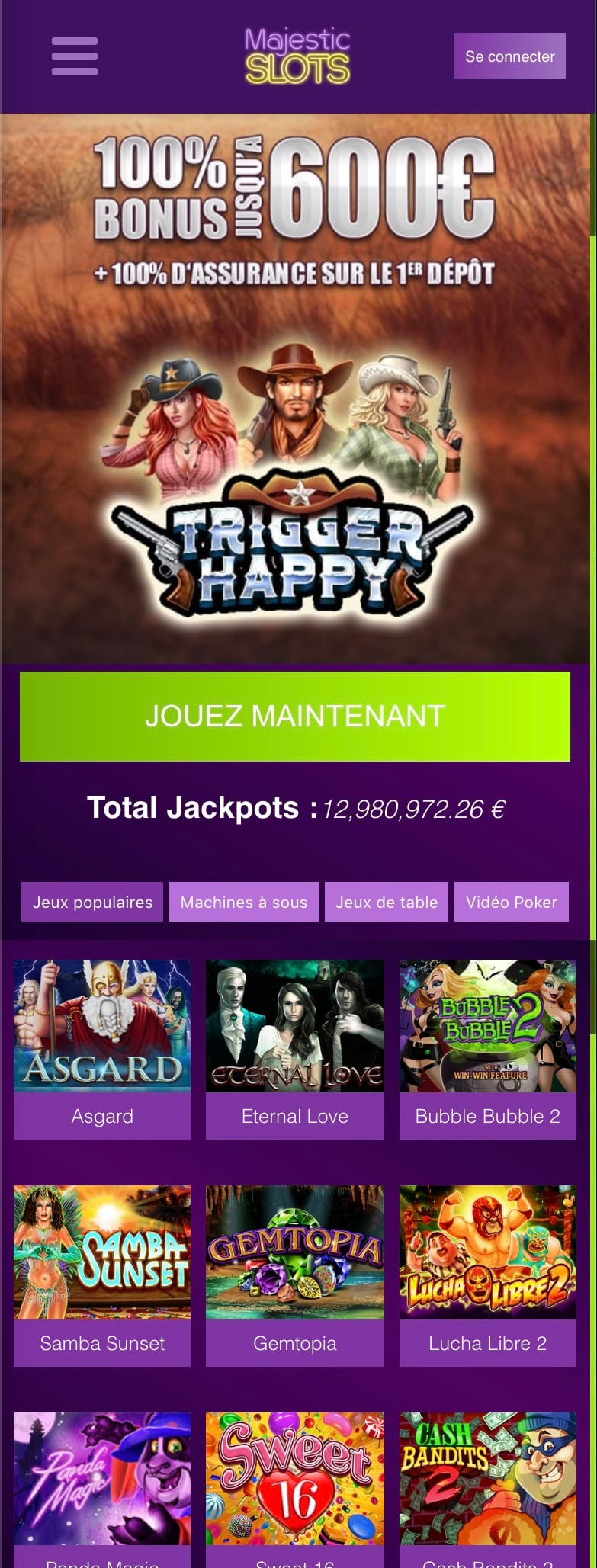 Majestic Slots Officiel
